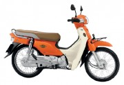 Motorbike Honda Super Cub Orange-01