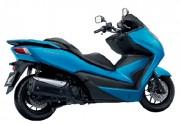 Motorbike Honda Forza 300 Blue-01