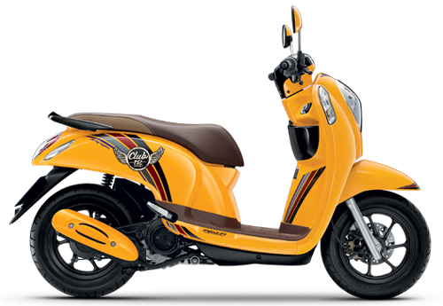 Motorbike Scoopy i Club 12 new 2016 Yellow-01